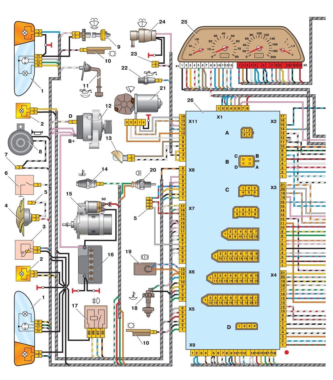 ваз 2114 система торможения схема