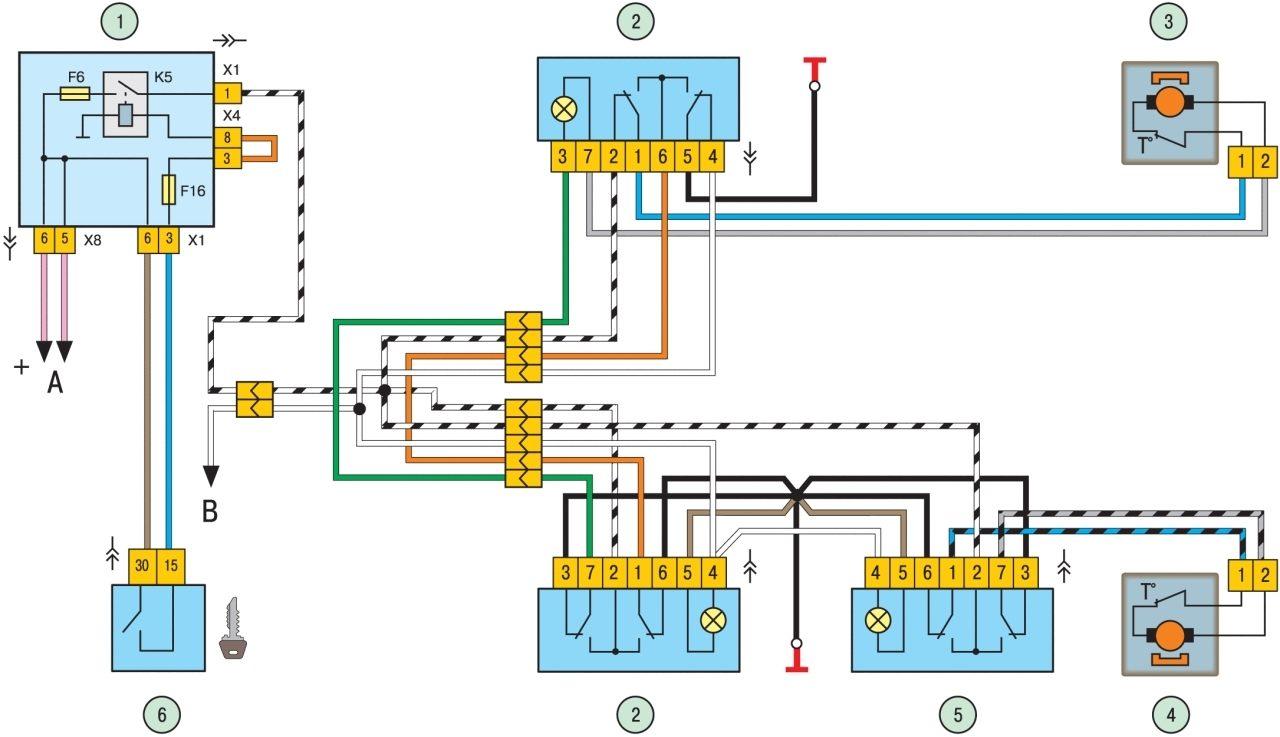 схема 2115 схема подключения проводов